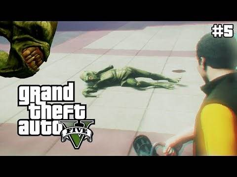 GTA 5 - KILLING ALIENS IN GTA5!? - (GTA V Lets Play #5)