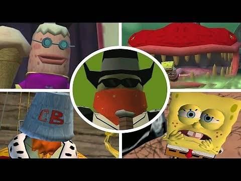 SpongeBob Movie Game - All Bosses (No Damage)