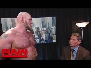 "Lars Sullivan persuades Mr. McMahon to change the ""Wild Card Rule"""