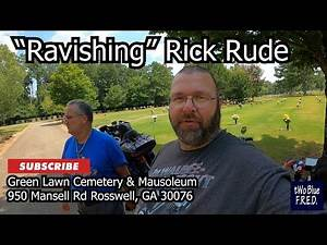 Visiting Ravishing Rick Rude's Grave while motorcycle traveling thru Roswell, GA