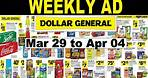 Dollar General Grocery Weekly Ad Mar 29 to Apr 04,2020 | Dollar General Ad | Dollar General Flyer