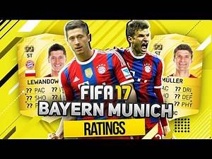 FIFA 17 LEWANDOWSKI, MULLER, ROBBEN, RIBERY ect. - FC BAYERN MUNICH PLAYER POTENTIAL RATINGS