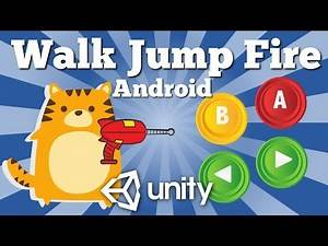 How To Make A Character Move Jump And Fire With UI Buttons In 2D Android Unity Game. Easy Tutorial.