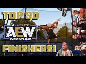 Top 50 AEW Finishers of 2020 on Trampoline! - All Elite Wrestling