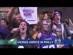 Vikings Fans Arrive In Philadelphia Ahead Of NFC Championship