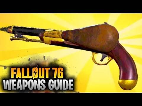 Fallout 76 Weapons Guide - BLACK POWDER PISTOL LOCATION! (Fallout 76 NEW WEAPONS)