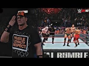 WWE 2K18: John Cena Returns & Wins the Royal Rumble 2008 (feat. HHH, Batista, Kane, Umaga etc.)