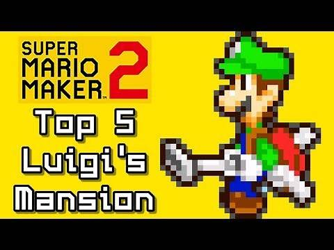 Super Mario Maker 2 Top 5 LUIGI'S MANSION Courses (Switch)