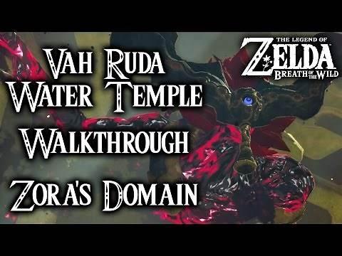 Breath of the Wild - Vah Ruta Water Temple Walkthrough - Waterblight Ganon Fight (Legend of Zelda)