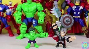 The BEST Marvel Super Hero Masher Adventures! Captain America Hulkbuster Thor