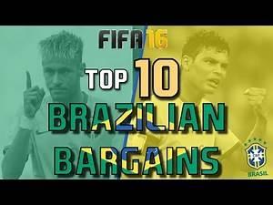 TOP 10 BRAZILIAN BARGAINS | FIFA 16 Career Mode
