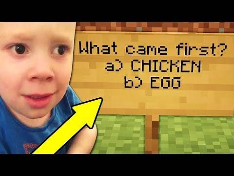 GIVING NOOBS TRICK QUESTIONS ON MINECRAFT