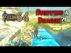Can you STOP the DRAGON using Cryonis?! Breaking Hylia Lake in Zelda Breath of the Wild 64