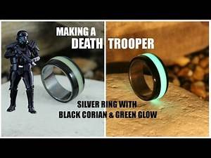 Storm Trooper Glow Ring – Silver Ring With Green Glow Inlay and Corian (How To)
