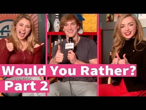 Peyton List on The Walking Dead or American Horror Story? Would You Rather!
