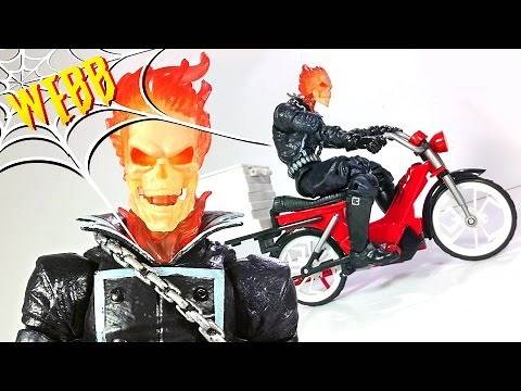 Marvel Legends Spider Man Infinite Series GHOST RIDER Action Figure Review