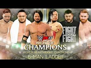 WWE 2K17 CHAMPIONSHIP MATCH - 6 Man Ladder Match Gameplay