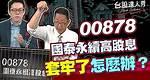 00878國泰永續高股息 套牢了怎麼辦?│台股達人秀│游庭皓 蕭又銘