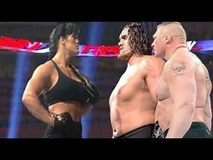 Chyna vs The Great Khali & Brock Lesnar