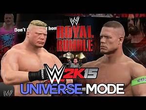 """WWE 2K15 Universe Mode - Ep 6 - """"ROYAL RUMBLE 2015!"""" [WWE Universe XBOX ONE / PS4 / NEXT GEN Part 6]"""