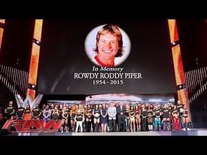 "Die gesamte WWE gedenkt WWE Hall of Famer ""Rowdy"" Roddy Piper: Raw – 3. August 2015"