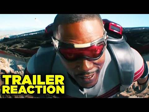 FALCON AND WINTER SOLDIER TRAILER REACTION! (Super Bowl 2021)