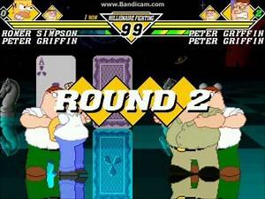 RGM MUGEN: Homer Simpson and Peter Griffin vs Peter Clones (rematched)