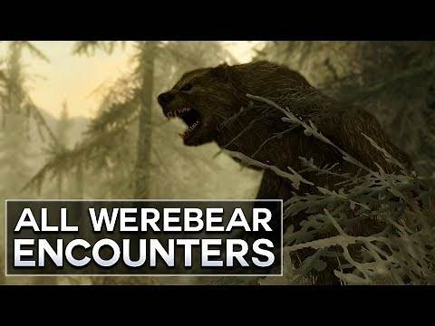 Skyrim - All Werebear Encounters
