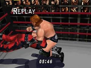 N64 WWF WretleMania 2000 - Cage Match - Triple H vs Kane