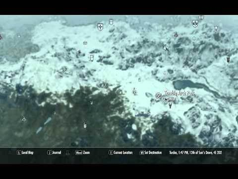 Skyrim locations of all the Giant Camps on the map