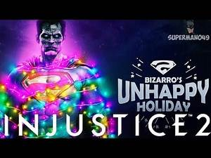 CHRISTMAS BEATING FROM SUPERMAN & HELLBOY! - Injustice 2 Bizarro Christmas Multiverse Boss Event