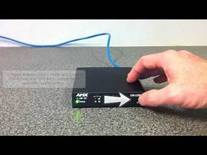 AMX Technical Quick Start Video: How to toggle an ICSLan Box between DHCP Mode and Static IP