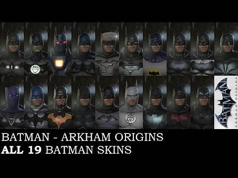 Batman: Arkham Origins - All 19 Batman skins on PC (including PS3 exclusive skins)