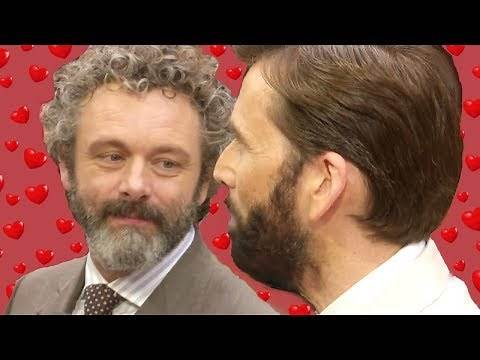David Tennant and Michael Sheen being fans of each other (aka Michael being in love with David)