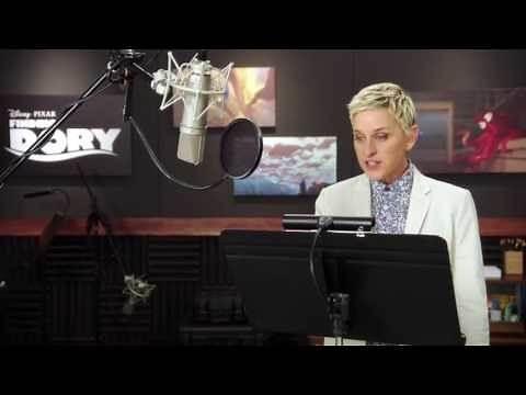 """Finding Dory: Ellen Degeneres """"Dory"""" Behind the Scenes Voice Acting"""