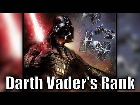 What Darth Vader's Public Rank was within the Empire