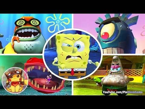 Boss Fights of All SpongeBob Games (All Boss Battles) [1080p] No commentary