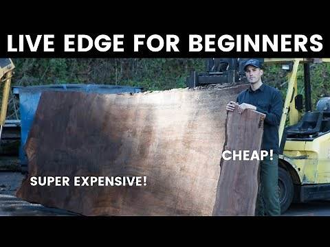Live Edge For Beginners - Wood Bugs and Green Wood - How To Woodworking