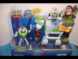 DISNEY TOY STORY BUZZ LIGHTYEAR TURBO SUIT w/ LAUNCHING FIST ACTION FIGURE TOY REVIEW