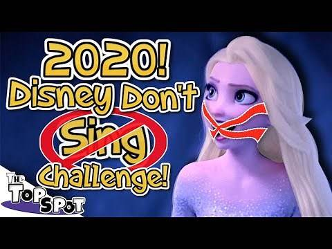 2020 Disney ❌DON'T SING Challenge❌ - Newest Disney Try Not To Sing!