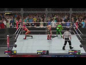 WWE 2K17 - Battle of Brands // Sasha Banks vs Asuka vs Naomi // Hell In a Cell