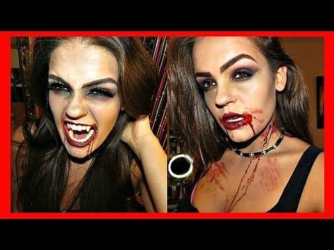 Sexy Vampire Makeup How-to Put on Vampire Teeth (Fangs)!