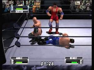 N64 - WWF No Mercy - Heavyweight - Match 3 - Steve Austin vs Kurt Angle vs Chris Benoit