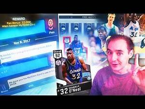 NBA 2K17 My Team HOW TO GET FREE SHAQ, IVERSON, BIRD & MORE FREE AGENT CARDS!