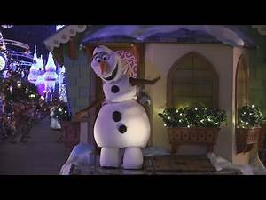 Frozen characters debut in Once Upon A Christmastime Parade at Magic Kingdom