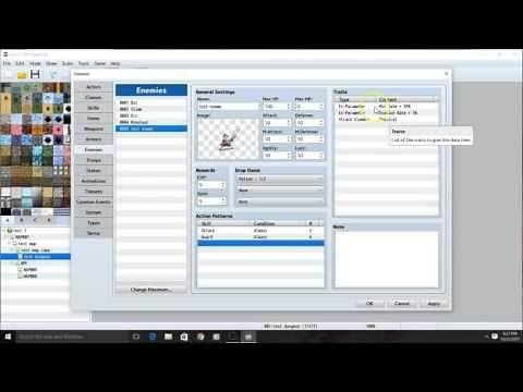 RPG Maker MV Tutorial -Creating Enemies-