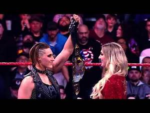 NXT Champion Rhea Ripley engages Charlotte Flair at WrestleMania