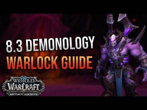 8.3 Demonology Warlock DPS Guide! Mythic + and Ny'alotha! Corruption, Essences, Talents and More!