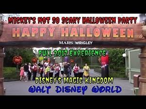 Mickey's Not So Scary Halloween Party 2017 Full Experience