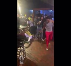Cracked Him: Dude Gets Knocked Out From Being Hit With A Chair During A Brawl Out In A Club In Atlanta!